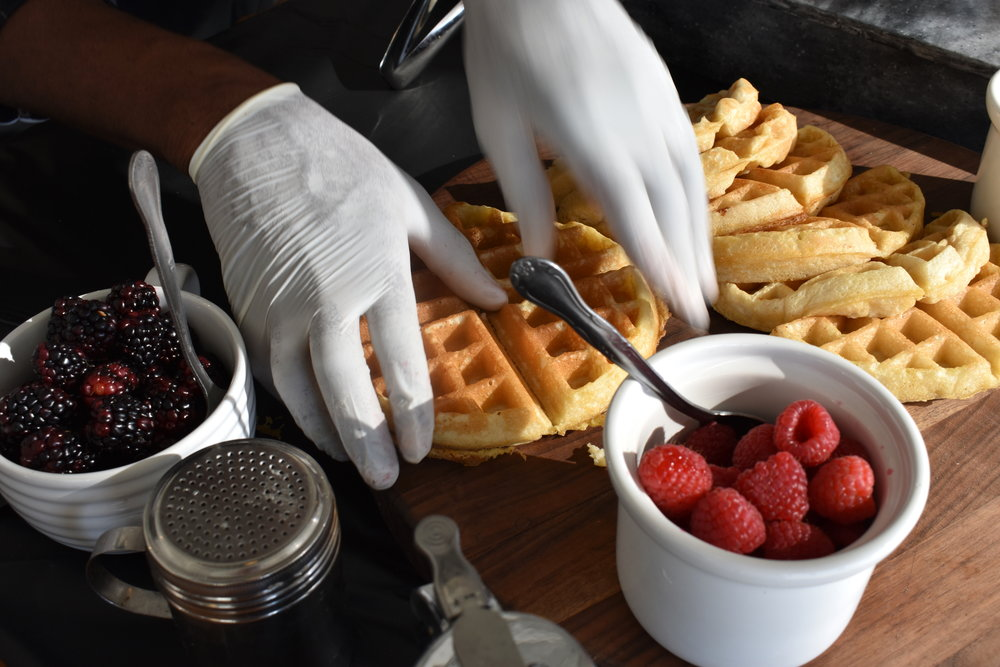 Made-to-Order Waffle Station - by Catering of Paris