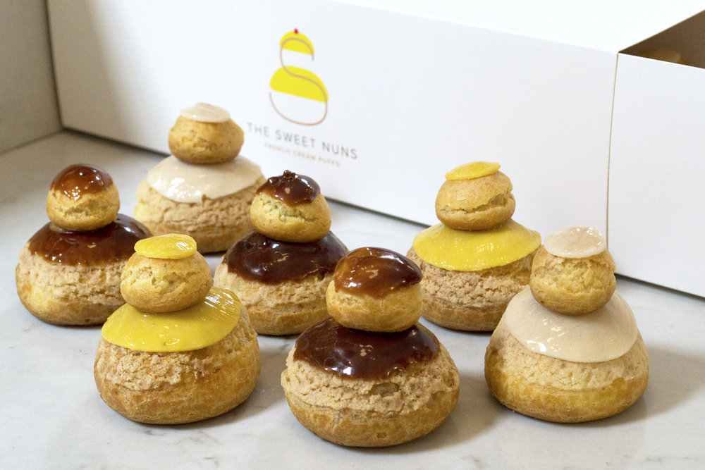 Mini French Cream Puffs - by The Sweet Nuns