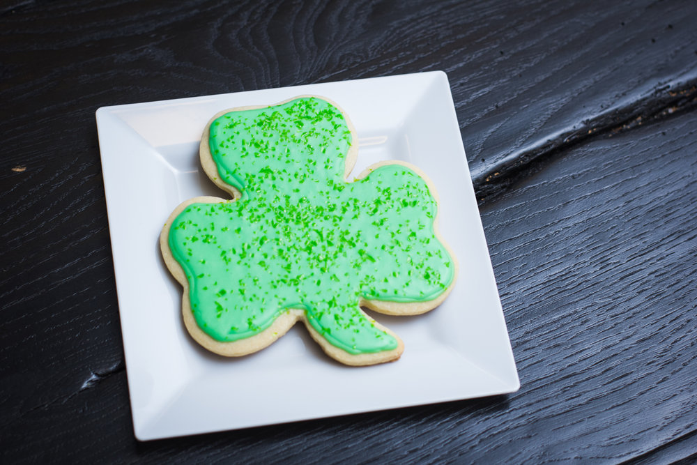 Shamrock Sugar Cookies - [Simply Fabulous Bakery Austin]