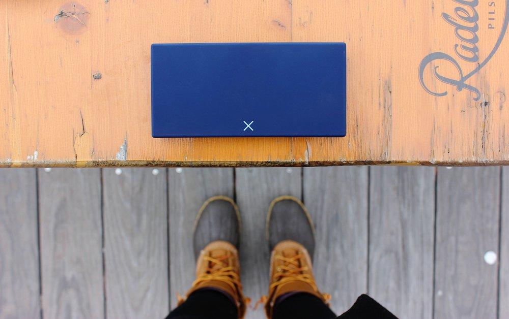 Blue pill case