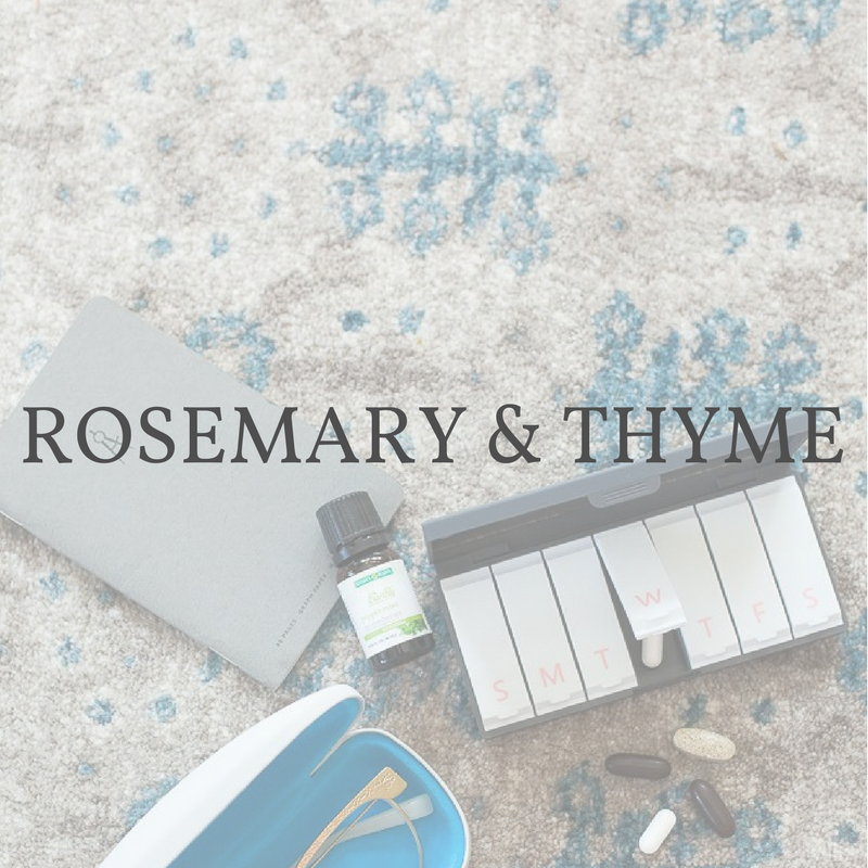 Rosemary and Thyme Port and Polish pillbox