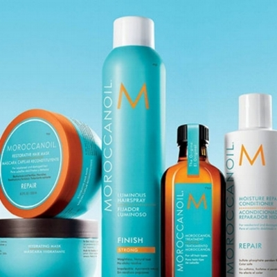 Moroccanoil products sold at The James hair salon and clothing boutique in grand rapids mi