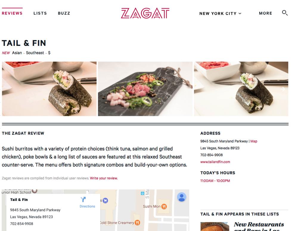 Zagat | Hot & New Places- November 2016