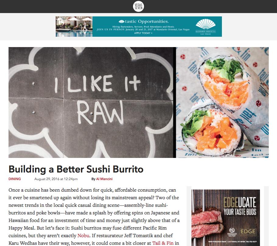 Vegas Seven | Building a Better Sushi Burrito - August 2016