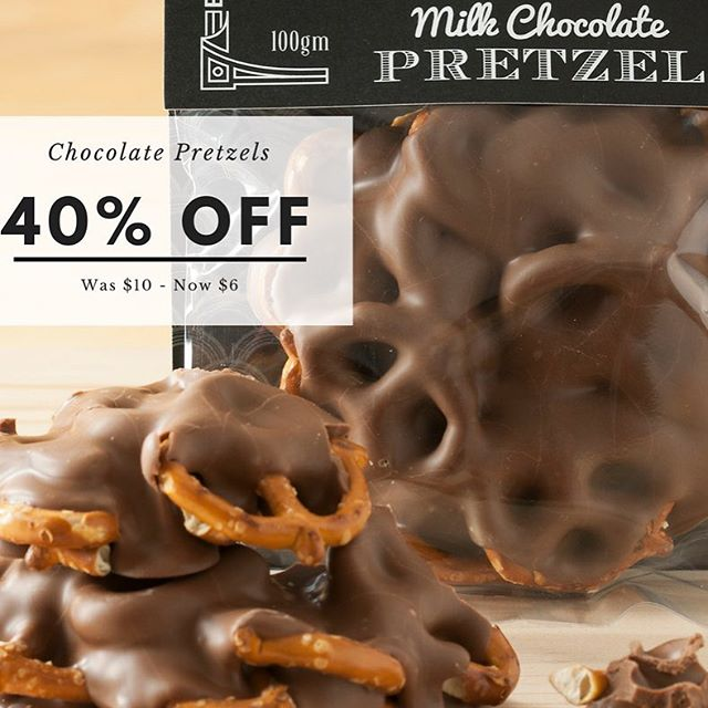 World Chocolate Day and a sale - things are perfect!! Happy Friday ❤️🍫🍾 #worldchocolateday #chocolate #chocolotelover #chocolatepretzels #handmade #artisan #belgianchocolate #entrepreneur #agrifood #geelong #madeingtown #smallbusiness #friday