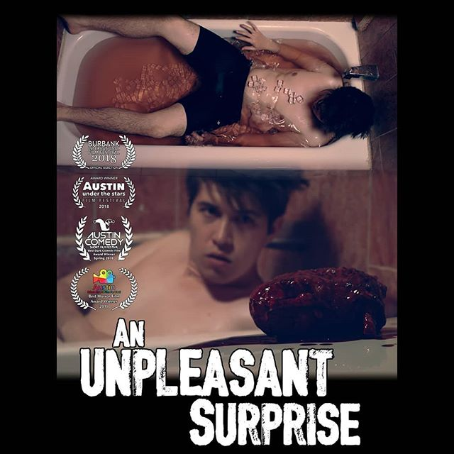 The Award Winning Horror film An Unpleasant Surprise now streaming on PjsandPixels.com and Amazon Prime.  Check out this chilling tale of terror with a twist.  #scary #horrormovies #scarymovies #terror #anunpleasantsurprise #horror #slasher @seraphicpr
