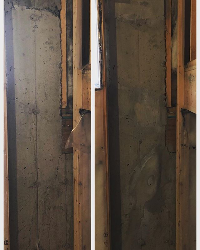 Foundation crack repair completed by Abris! We do it all.