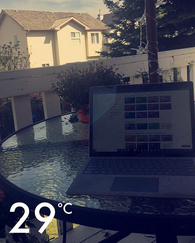 Great to be outside enjoying the weather and being productive!
