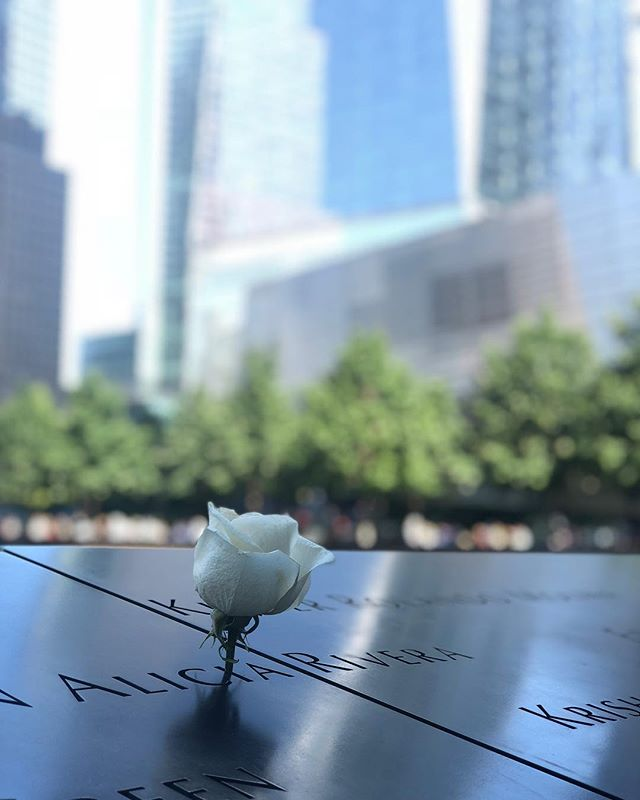 I'm with you in spirit today, NYC. You are the most resilient city there is. I try to fathom the pain that survivors and those left behind feel today and everyday, but it seems unfathomable. 🇺🇸 #neverforget #911memorial #newyork #nyc