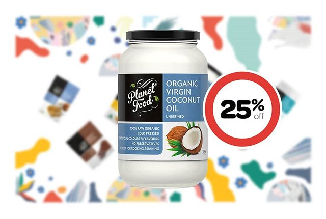 Planet Food Coconut Oils (350ml, 500ml, 1L) - 25% off 😱 Visit @colessupermarkets and save $$$ 😉 #onsale #coles #coconutoil