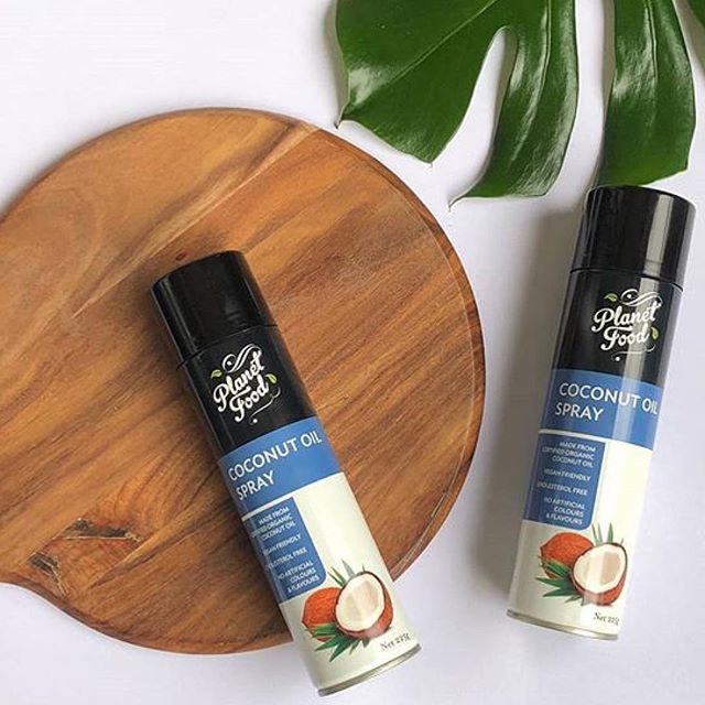 Our coconut oil spray is made from certified organic coconut oil 😋 available at @colessupermarkets 🙌 #planetfoodaustralia