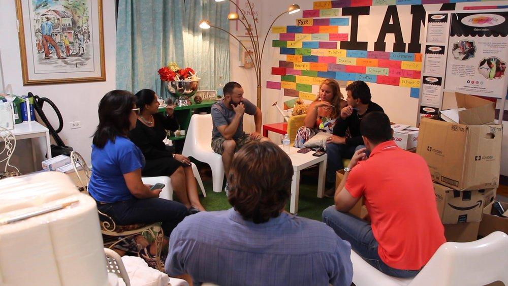 The core team of Ayuda Pa La Montaña meeting at La Casita De Ely.