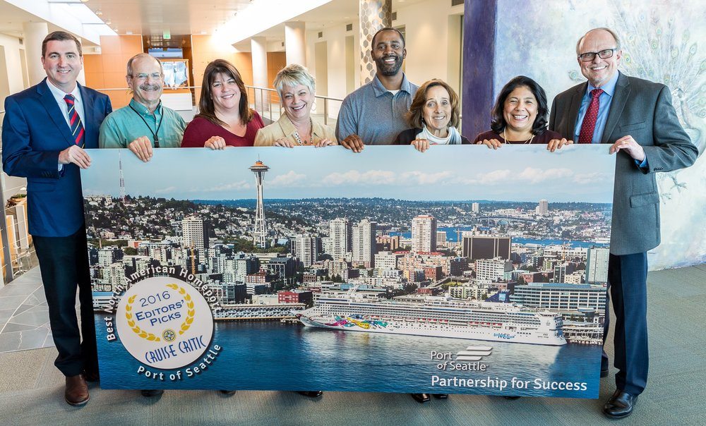 The Cruise team at the port of seattle.