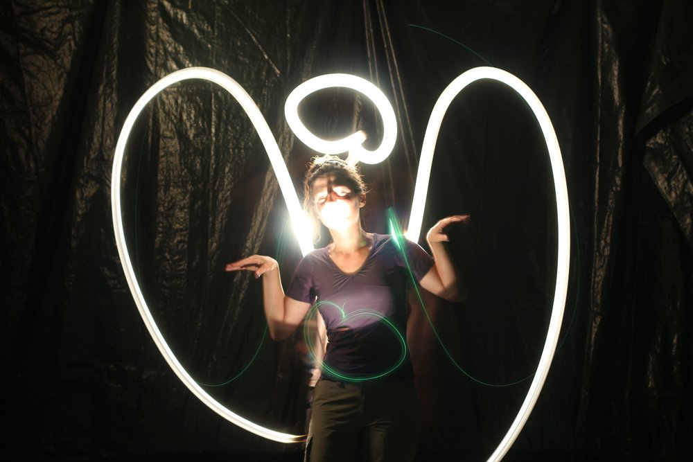 """A light painting of angel""   by M0tty (Creative Commons)"