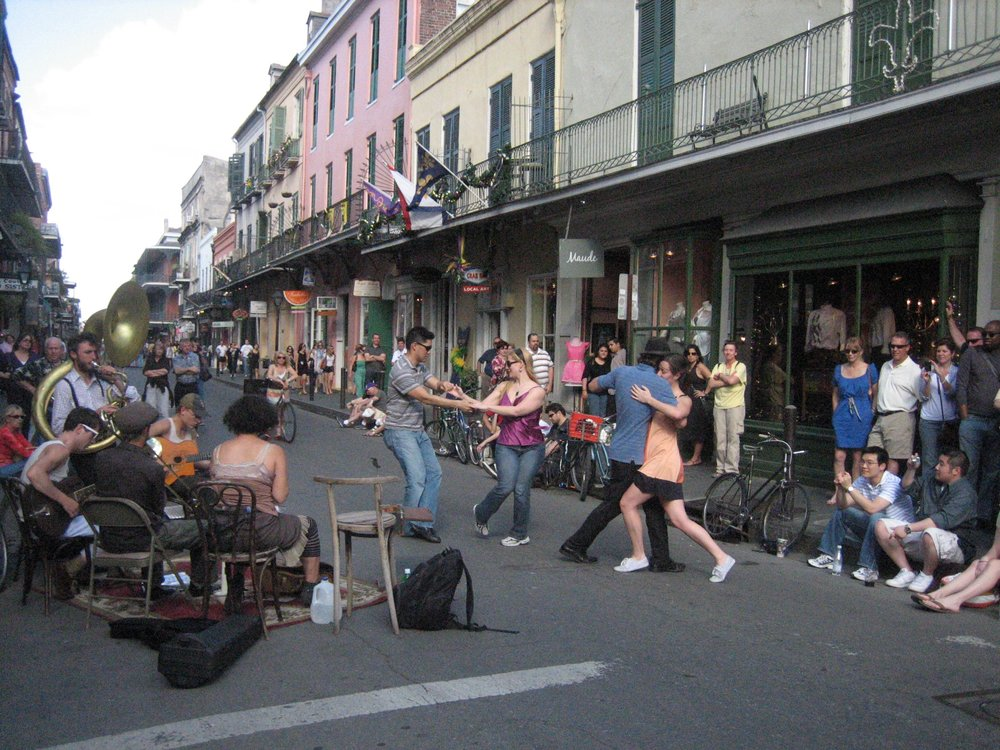 Dancing in the streets, French Quarter, New Orleans