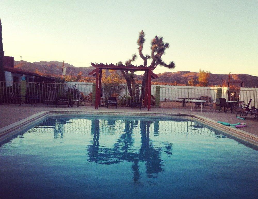 The dreamy pool at the Joshua Tree Inn