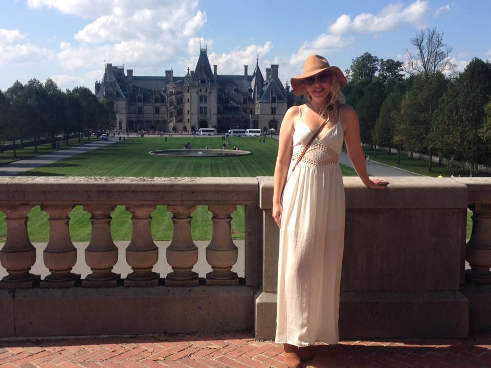 Outside the gorgeous Biltmore Estate