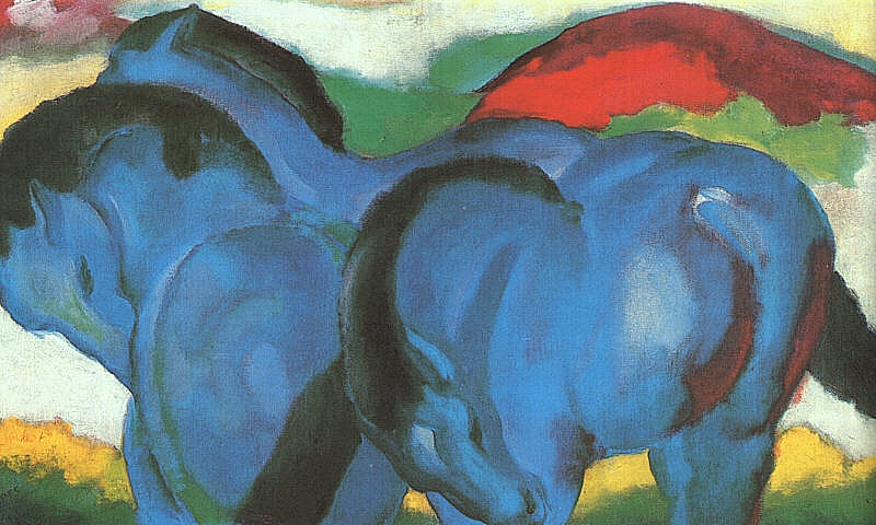 The Little Blue Horses  by Franz Marc