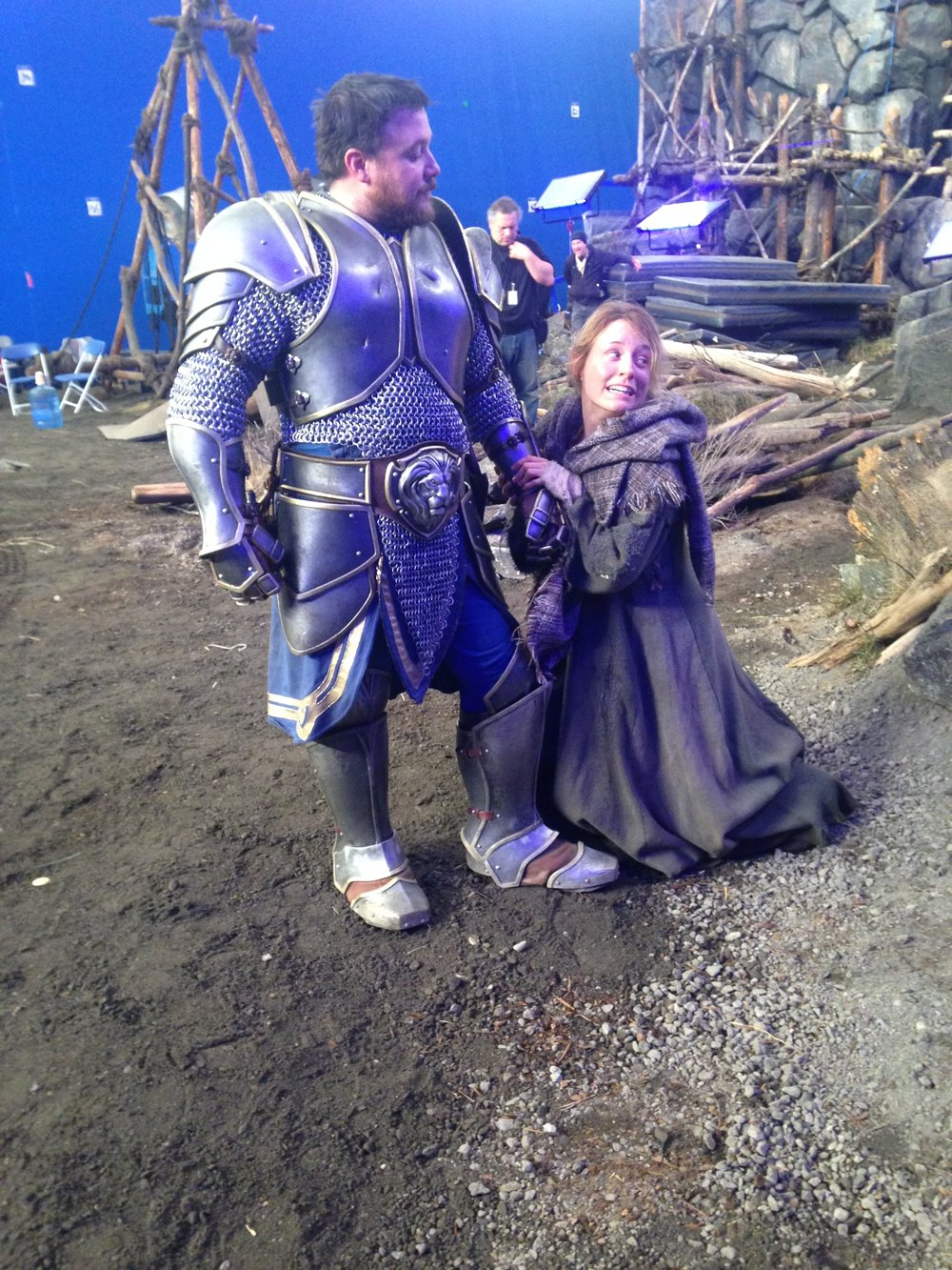 Warcraft   Cassandra did stunts in 2014 on the Movie Warcraft.