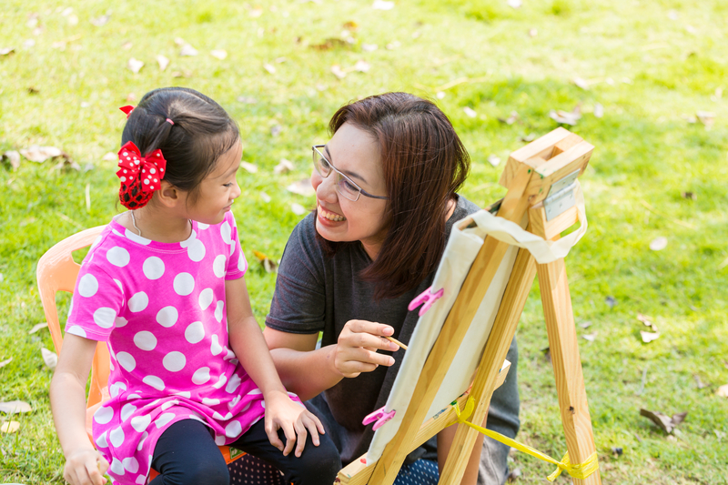 Teaching, Painting, Learning, Student, Teacher, Mother, Daughter.jpg