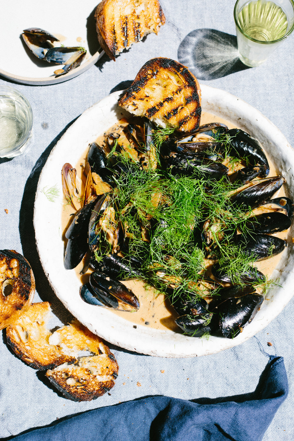 Mussels with Caramelized Fennel Cream