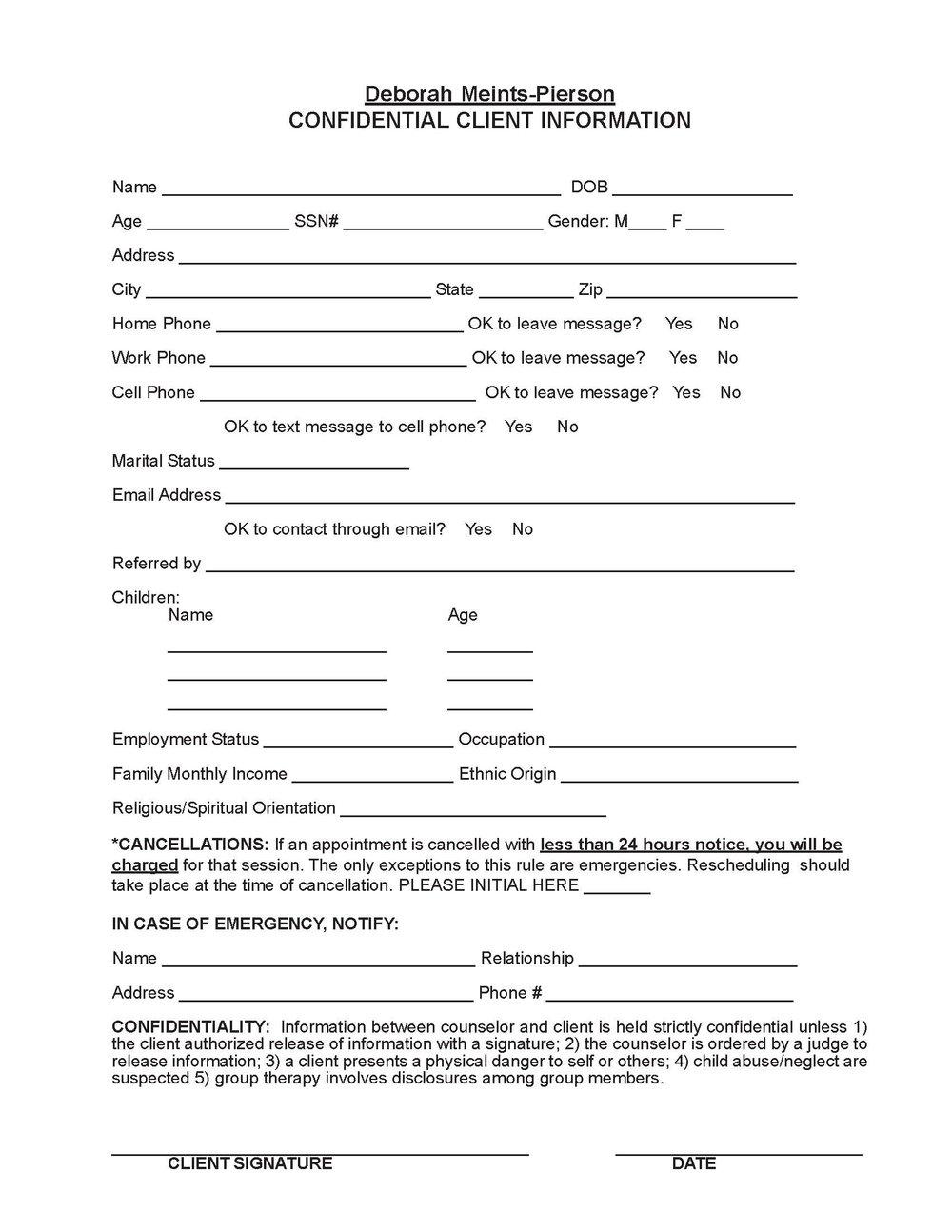 Confidential Client Information