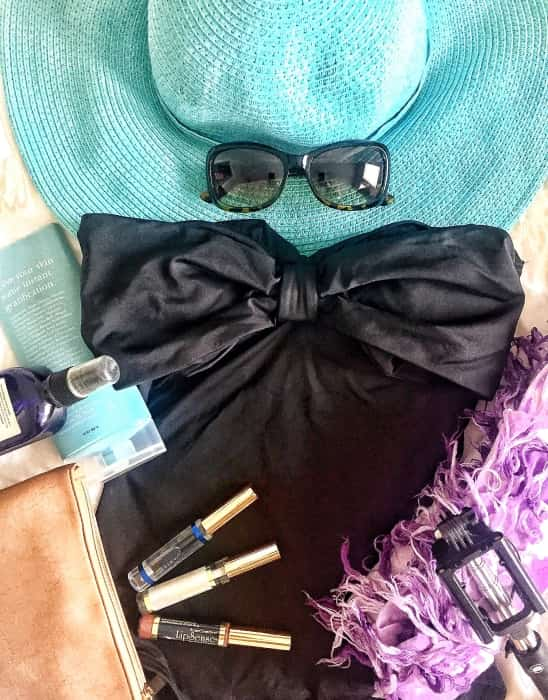 Beach-bound! Heading to the beach requires packing a water-proof lipstick.