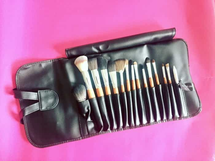Vanity Planet Palette Professional Makeup Brush Collection comes with 15 makeup brushes carefully stored in a chic roll-up pouch to cover all your daily beauty needs.