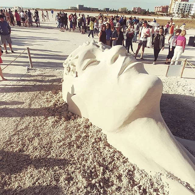 Some art stays with you. This majestic sand art is one of them! . . . . . #tampa #tampaart #bloggermom #bloggermama #momlife #momlifebelike #momlifeisthebestlife #floridaliving #islandlife #islandlifestyle #saltlife #sandingovations #treasureisland #travelblog #loveflorida