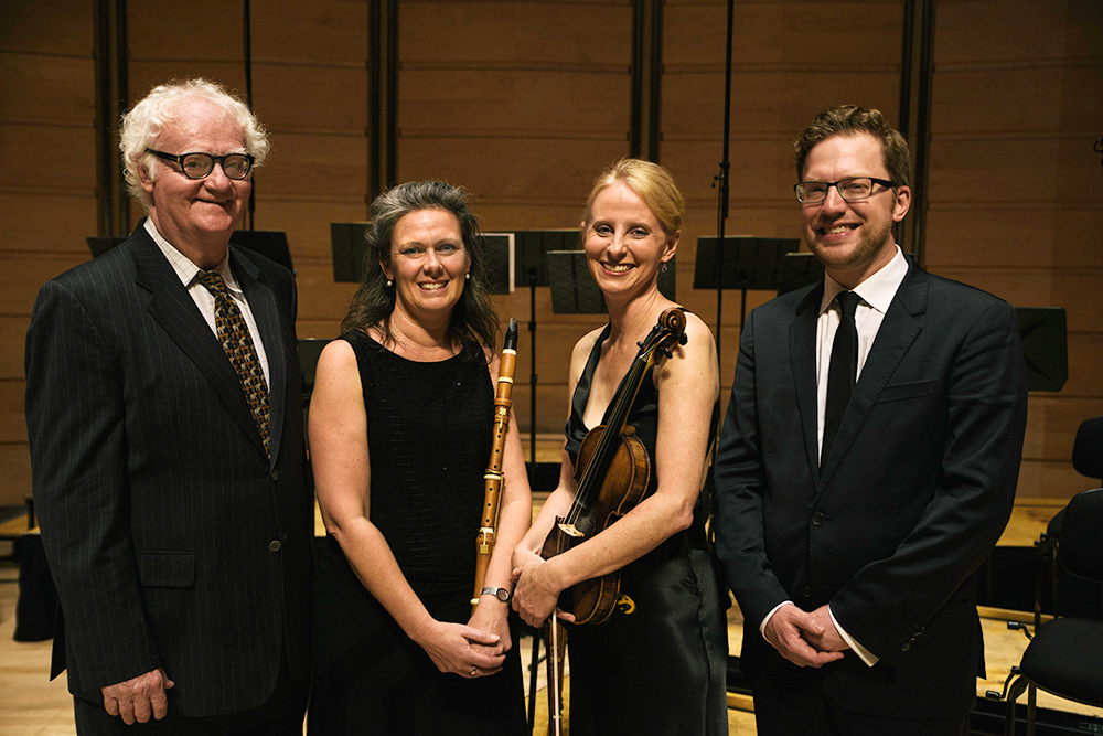 Richard Gill, Nicole van Bruggen, Rachael Beesley and Benjamin Bayl. Photo © Nick Gilbert