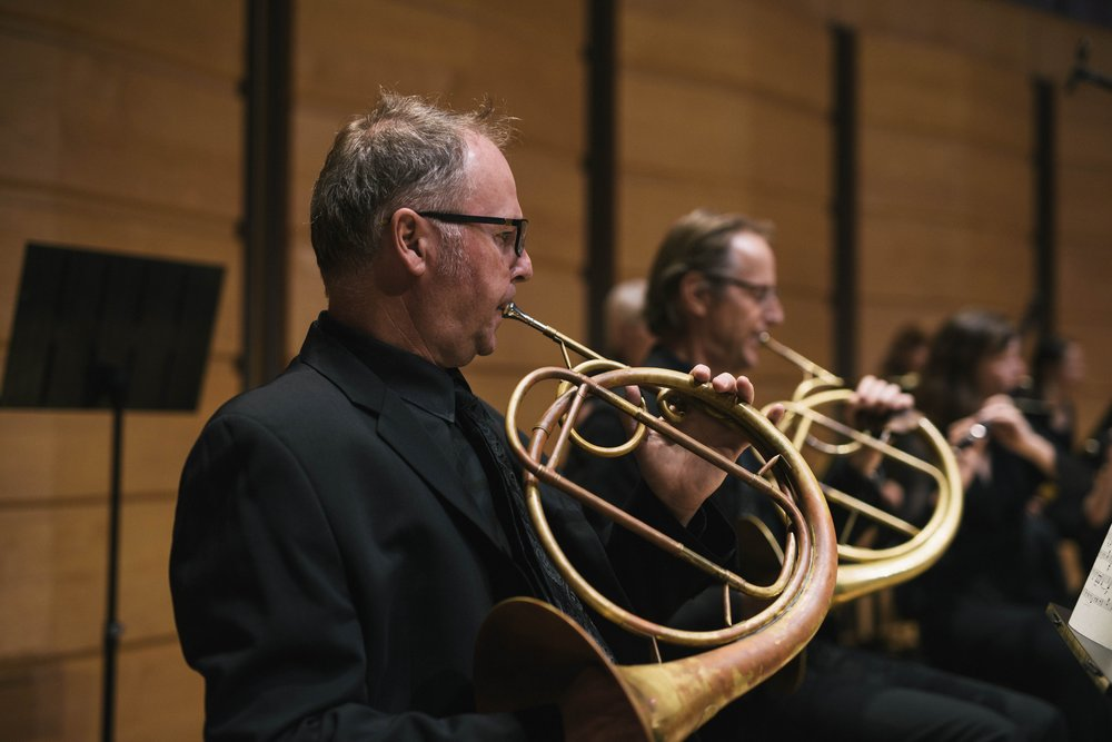 Horn player Graham Nichols from Sydney and International Guest Principal Horn player from Amsterdam Stefan Blonk, March 2017