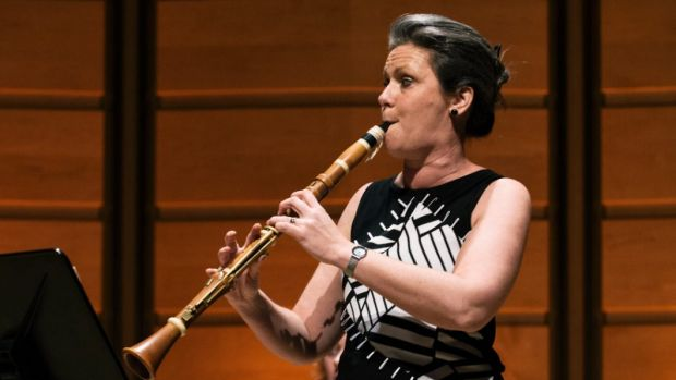 Nicole van Bruggen thrilled with her velvety tone on the basset clarinet. Photo: Nick Gilbert
