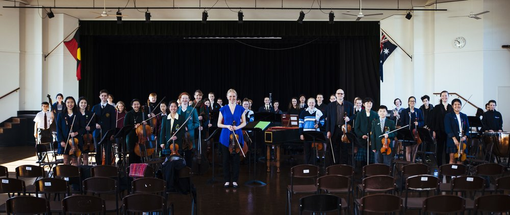 "Young Mannheim Symphonists - Sydney | July 2017""This extraordinary group of students of such different ages and from so many different backgrounds could already make a fantastic sound on the first day! They were living proof that a love of music and learning thrives in every corner of Sydney and beyond. It was pure delight to be able to work with them at the highest level; by the end of the four days they played a concert that was so wonderful it brought tears to my eyes."" - Megan Lang ARCO education coordinator Some of Australia's brightest young musicians spent an amazing week of learning and playing in the company of Australia's finest performers of Historically Informed Performance style (HIP). The Australian Romantic & Classical Orchestra conducted a four day workshop from 4-7 July with school students from all over Sydney, west to the Blue Mountains and Bathurst, south to Sutherland Shire and north beyond the northern beaches to Noosa in Queensland! Hosted by Santa Sabina College in Sydney's inner west, more than 40 talented young musicians worked intensively to create a fresh and inspiring interpretation of Mozart's Symphony no. 35, the 'Haffner'. All brought their own modern instruments; however the tutors demonstrated on period instruments and shared their expertise and experience so that the students learned how to create a sound and style in keeping with the aesthetics of Mozart's time. The sessions included full orchestral and sectional rehearsals, lecture/workshops and demonstrations – and lots of singing, gesturing, dancing and socializing with like-minded peers. Tutors were ARCO members - including some who flew in from Adelaide, Melbourne and the Sunshine Coast. The orchestra was directed by ARCO's own concertmaster Rachael Beesley and tutors included Simone Slattery (violin), Simon Oswell (viola), Anthea Cottee (cello and double bass), Megan Lang and Nicole van Bruggen (woodwind), Matthew Manchester (brass and timpani) and Joanna Tondys (harpsichord)."