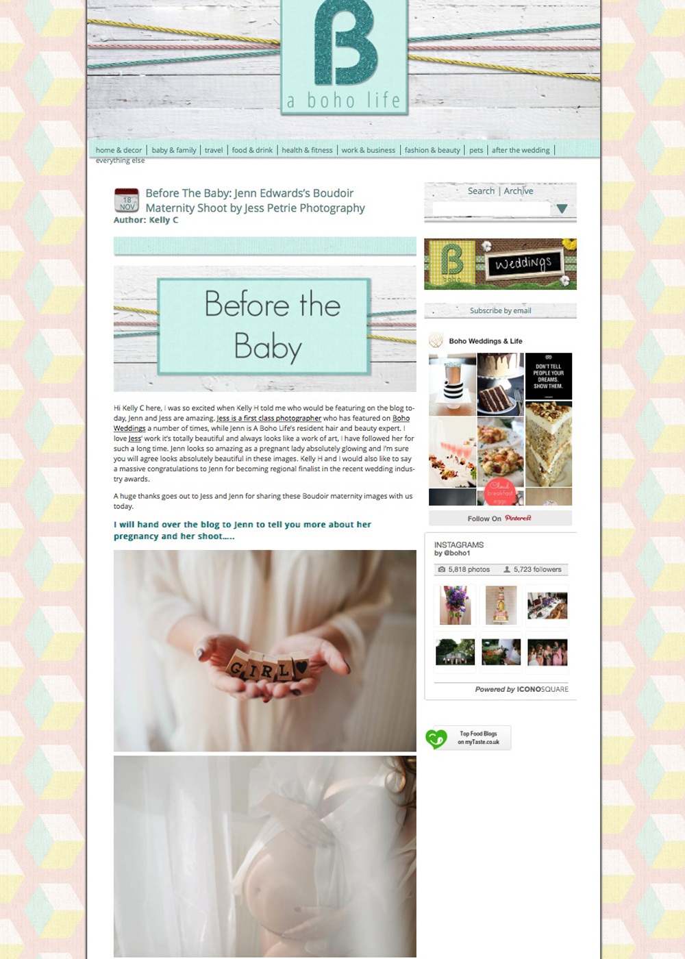 A Boho Life maternity boudoir feature