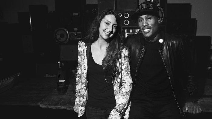 Frannie Kelley and Ali Shaheed Muhammad at the Ace Hotel Sept. 25.  Ebru Yildiz for NPR