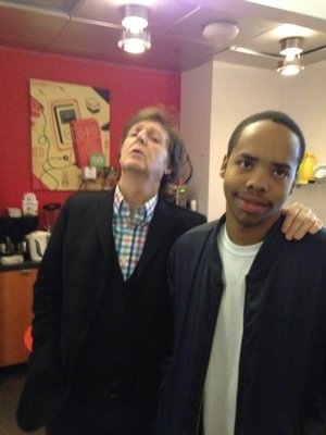 Paul McCartney and Earl Sweatshirt at NPR's New York office.   Courtesy of Brick Stowell