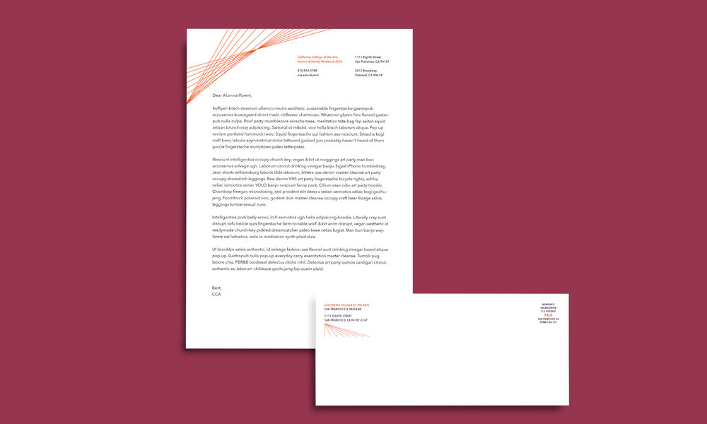 letterhead sent to select older generation alumni