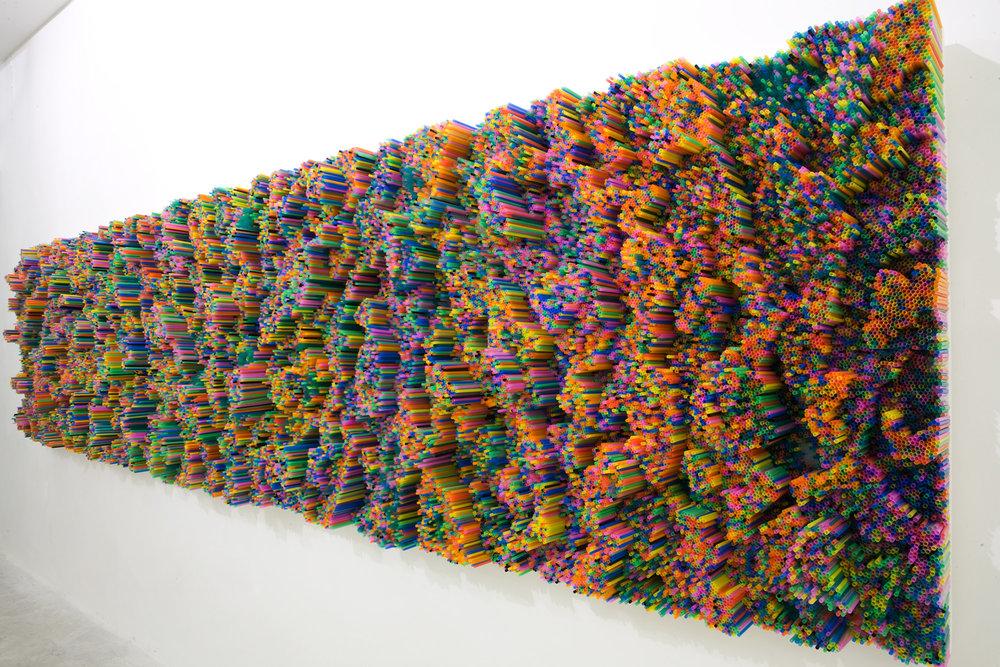 39000 Light Straws by Francesca Pasquali, 500 x 120cm, 2011, Neon Campobase, Bologna Img source:http://www.francescapasquali.com/