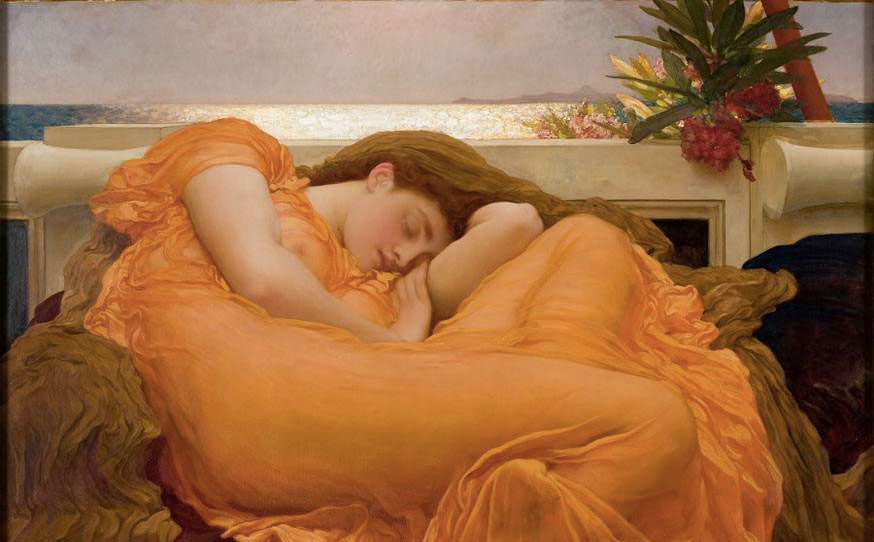 Flaming June Frederic Leighton, 1895 ©Museo de Arte de Ponce. The Luis A. Ferré Foundation, Inc. Image Source: www.rbkc.gov.uk