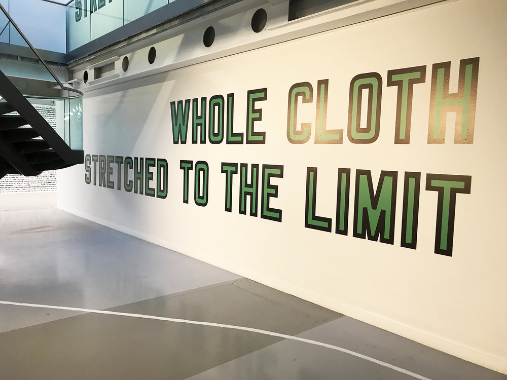 Lawrence Weiner: Whole Cloth Stretched To The Limit, 2013