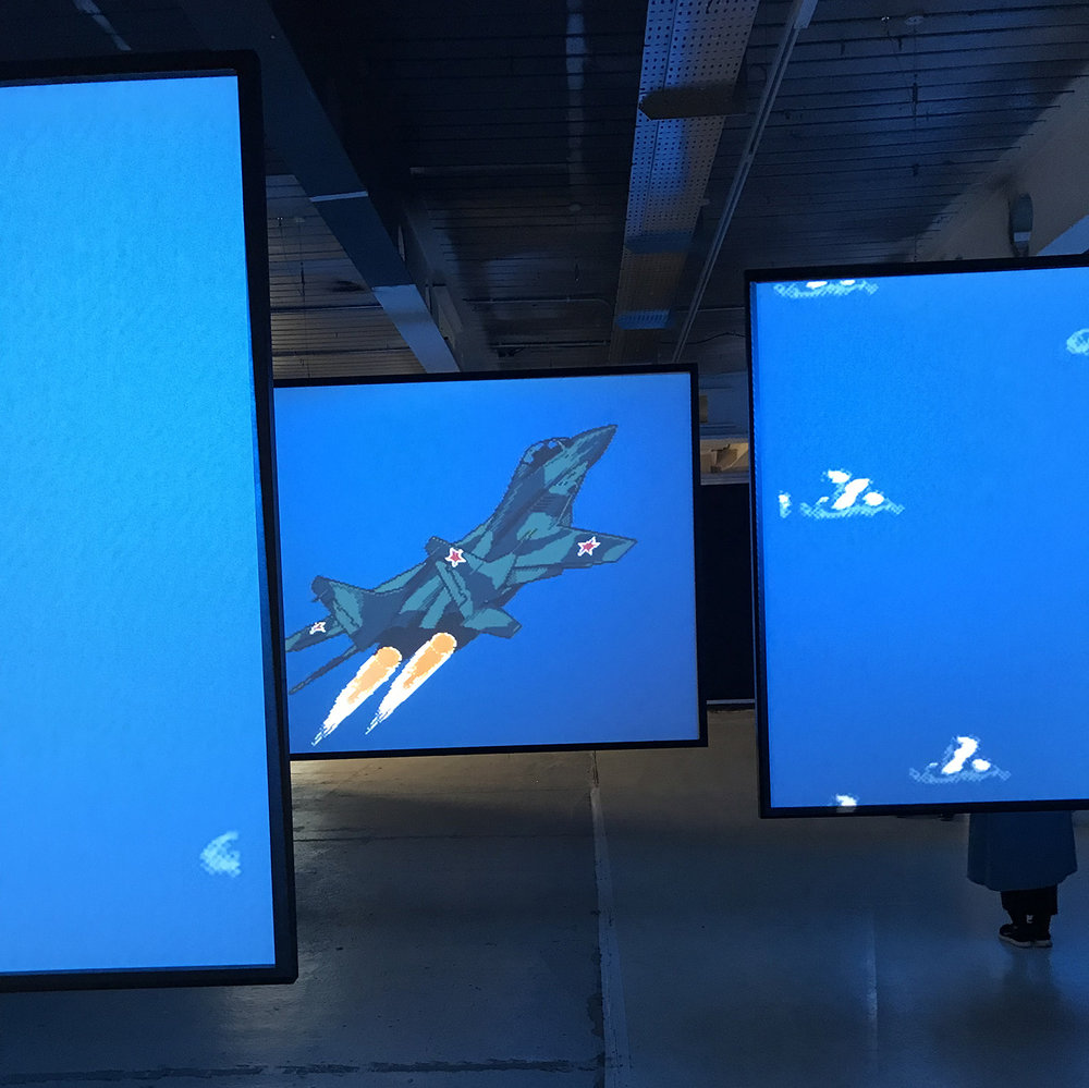 "Cory Arcangel's ""MIG 29 Soviet Fighter Plane and Clouds"" (2005)"
