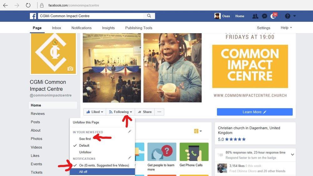 CGMi Common Impact Centre Facebook page