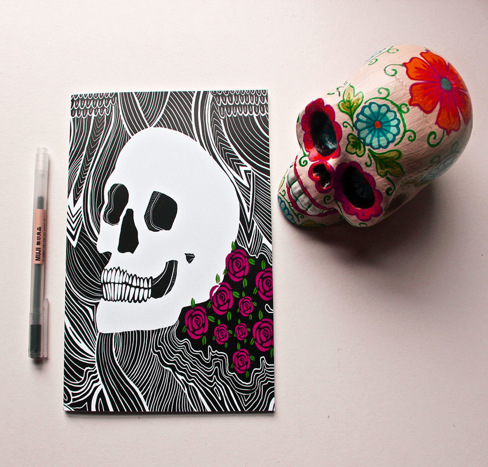 Back to Skull A5 Notebook
