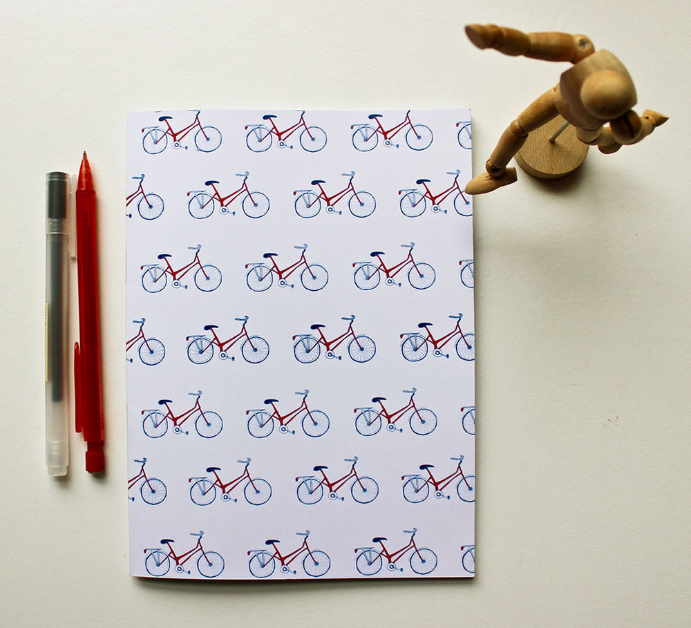 A5 Red Bicycle Notebook
