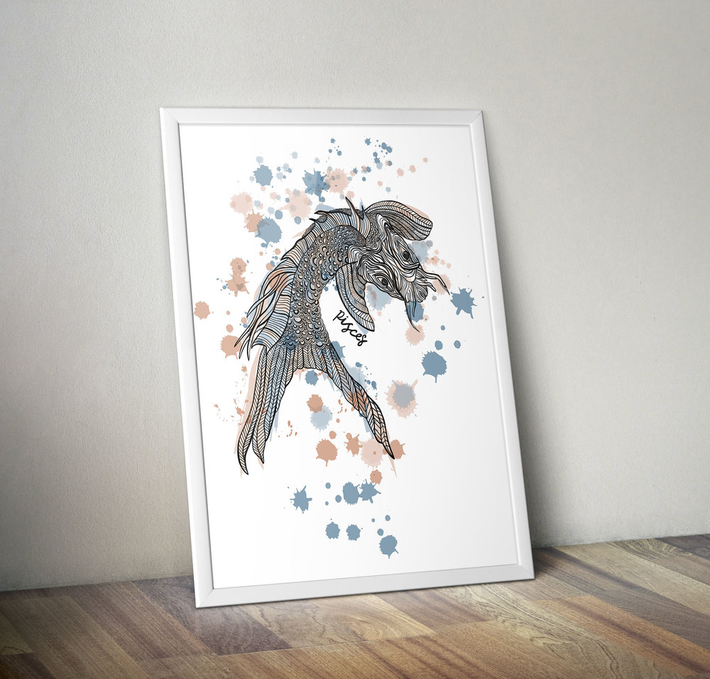 Pisces fish illustration