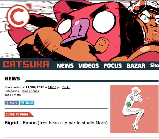 """Catsuka   """" Sigrid - Focus (très beau clip par le studio Moth)"""""""