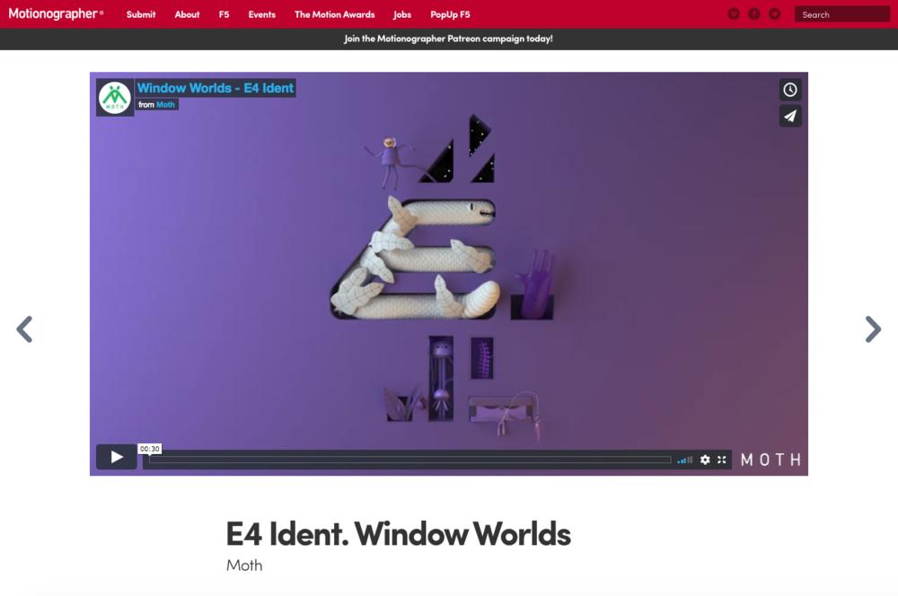 Motionographer - Window Worlds - E4 Ident