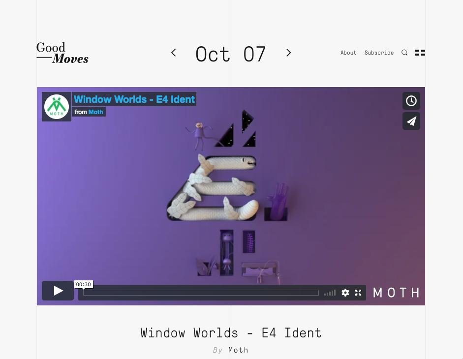 Good Moves - Window Worlds - E4 Ident