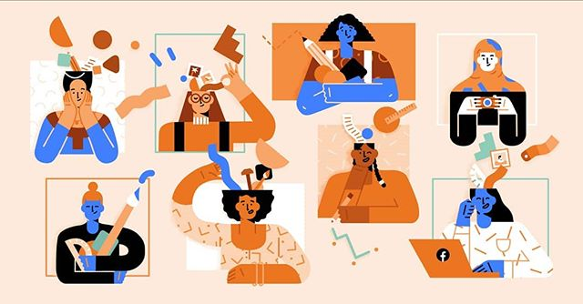 Happy International Women's Day to all the incredible ladies out there!  This is one of the illustrations we made recently with @hornet for @facebook (with an all-female team both in-house and on the client's side 💪)