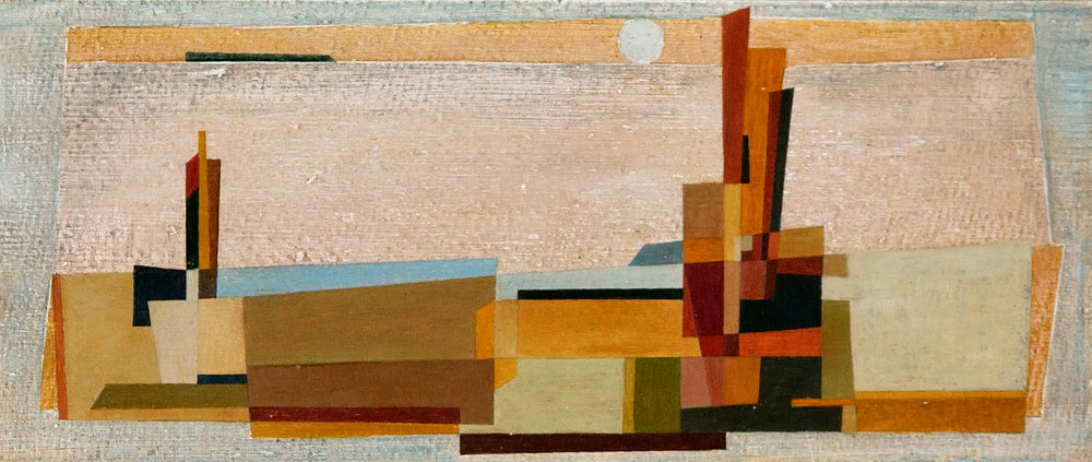 El Favol, 1958. Öl auf Malkarton. 13,5 x 33cm